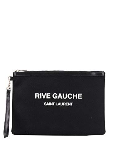 Saint Laurent Luxury Fashion Herren 58136996NAD1070 Schwarz Baumwolle Pouch | Herbst Winter 20