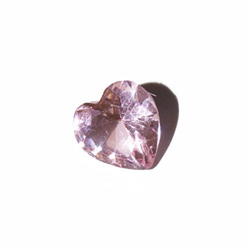 Corazón de piedra natal de junio - 5 mm encanto flotante se ajusta la memoria de estar virutas y virutas de estilo Búho de Origami