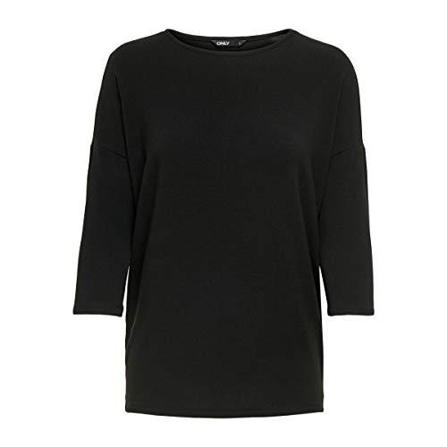 ONLY Damen 15157920 Pullover, Schwarz (Black Black), XXL EU