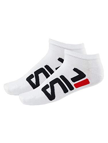 Fila Heren 2-pack onzichtbare sokken, Wit