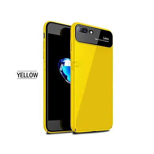 Phonecase Oneplant - Carcasa de cristal templado para iPhone 7 8 6 Plus (ultrafina+cristal antigolpes)