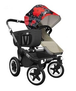 Great Deal! Bugaboo Donkey Mono Stroller WITH Andy Warhol Fabric (Sand Base)
