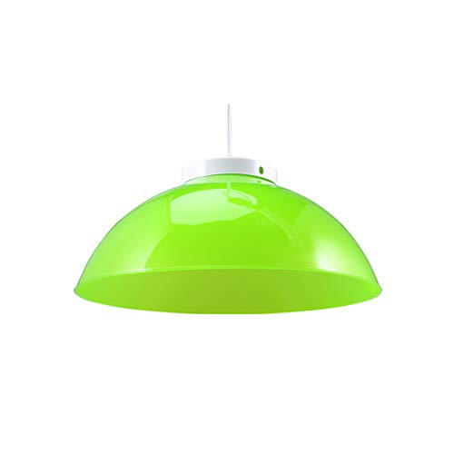 SOLUSTRE 2 Piezas de Sombra de Lámpara de Techo Verde Candelabro Lámpara de Sombra de Luz Colgante Cubre 220V E27 para Pasillo Estudio de Dormitorio Pasillo Cocina 290MM