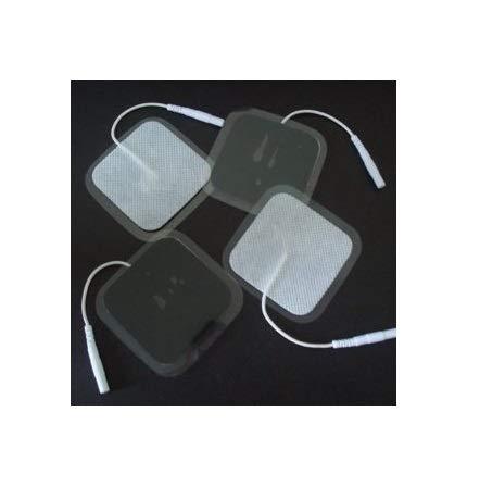 16 Stück Elektrodenpads 40x40mm, wiederverwendbar. Für TENS EMS Reizstromgerät mit 2mm Steckverbindung. Wiederverwendbar ! by ARTUROLUDWIG