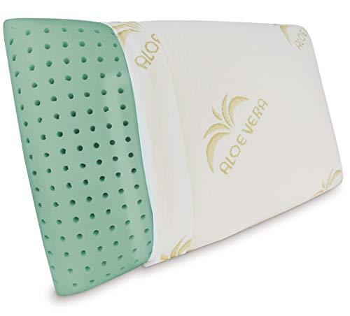 Baldiflex Emporio, Cuscino Memory Foam Ecologico, Modello Ecogreen 73x42cm, Altezza 15cm, Fodera in Aloe Vera