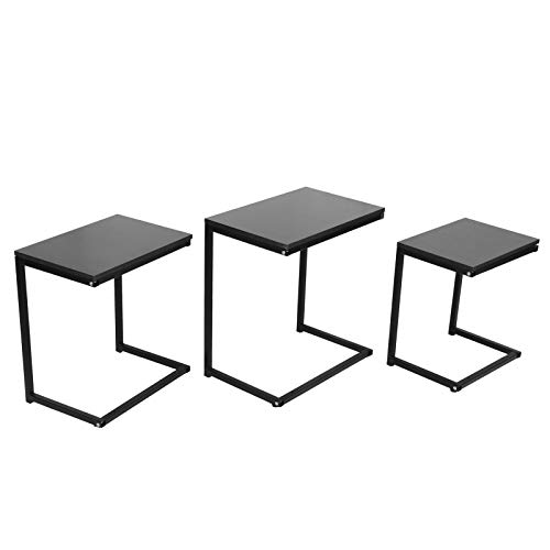 ffu 3 Piezas De Mesa De Café Y Té De Anidación Industrial para Muebles De Sala De Estar del Hogar
