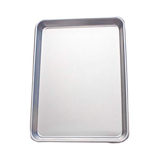 Yarnow Rechthoekige Bakvorm Anti-Aanbak Cake Dienblad Koekje Koekje Dessert Ovenschaal Feest Traktatie Dienblad Aluminium Bakvormen Voor Keuken 33X45x2. 5Cm