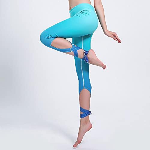 Yoga Impresión Pantalones,Mujer Gradient Bandage Irregular 3D Impresión Entrenamiento High Waisted Patrón De Yoga 3/4 Pantalones, Delgado Y Ligero Quick-Drying Hip-Lifting Tummy Control, Leggings