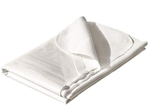 Wasserdichter Matratzenschoner Matratzenauflage - 160 x 200 cm, Weiß, 100% Baumwolle, Inkontinenzauflage mit Über-Eckgummis, Antiallergischer Matratzenschutz, Atmungsaktiv, Öko-Tex Standard 100