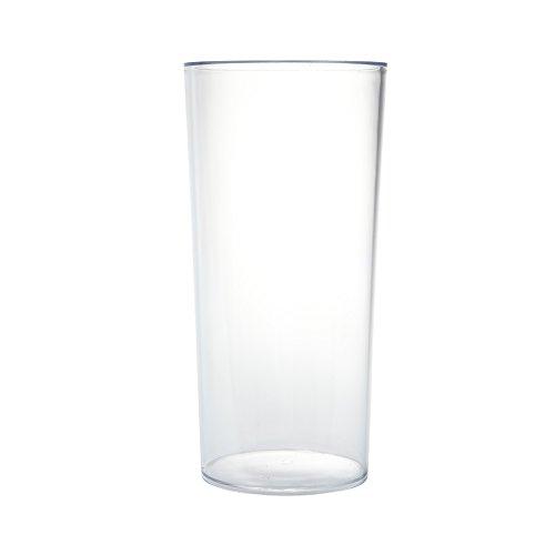Transparente Acryl-Vase, rechteckig, beständig, leicht, Kunststoff, 25 cm hoch