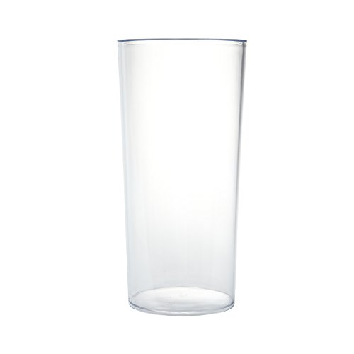 Clear Acrylic Cylinder Vase Hard Wearing Lightweight Durable Plastic 25cm High by Smithers Oasis