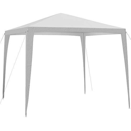 Deuba Pavillon 3x3m wasserabweichend Dachbespannung Festzelt UV-Schutz 50+ Stecksystem Festival Garten Weihnachtsmarkt