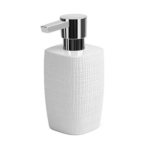 Zfggd Cerámica de múltiples Funciones del hogar desinfectante de Manos Body Wash Botella Creative Hotel Prensa de Tipo emulsión embotellada dispensador de jabón (Size : White)
