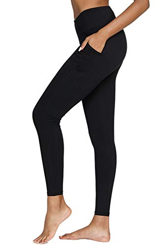 Yoga Pants, Womens Leggings High Waist Tummy Control Workout Running Pants with Pockets (62% Off)