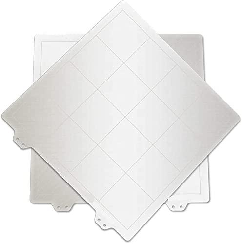 2 uds 220 * 220mm Plataforma de Cama de Calor de Hoja de Acero de Resorte Placa de construcción de Impresora 3D para RepRap i3 Wanhao Anet A8 A6 MK3 Ender-3 Piezas de Impresora DIY Piezas de Repuesto