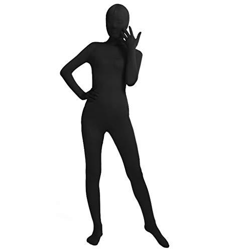Unisex Ganzkörper-Strumpfhose Spandex Stretch Schwarz Cosplay Kostüm verschwindender Mann Bodysuit für Halloween Party XXXL as the pic