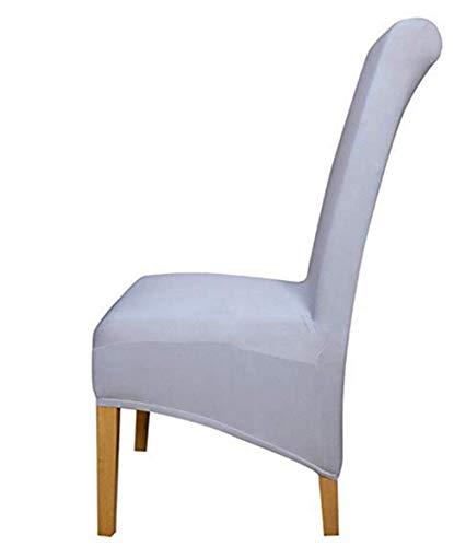 Zerci Special XL-Langrücken-Dekoration, Spandex-Stoff, für Hotelpartys, Bankettstuhl, Slipper, grau, XL (Nur Stuhlüberzug, Kein Stuhl)