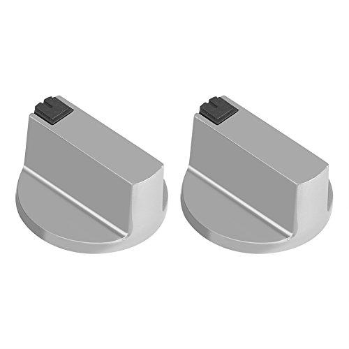 2 Unids 6mm Aleación de Zinc Universal Hogar Cocina Ronda Cocina Horno Perillas Cocina Horno Cooktop Metal Interruptor de Control - Fácil de encendido y apagado