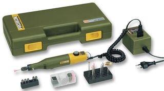 Proxxon 28515 Completo di trapano-fresatore MICROMOT 50/E, alimentatore e 34 utensili in qualità dentale, 12 W, 230 V, Verde/Nero/Giallo/Argento/Rosa/Marrone