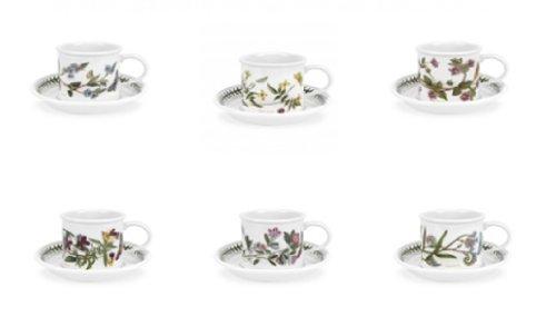 Portmeirion Botanic Garden – Taza de café y platillo de 3.5 onzas – Set o