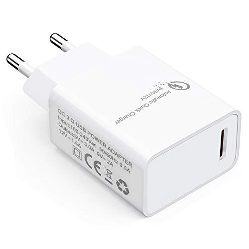 QC 3.0 18W USB Power Adapter Adaptador Cargador Rápido Automático 5V 3A, 9V 2A, 12V 1.5A para iPhone 5 6 6S 6P 7 7S 8 11 12 X XS XR Pro Samsung Galaxy S10 S9 S8 Plus Huawei Mate40 P40