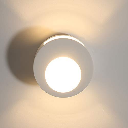 Moderne wandlamp binnen wandverlichting, 7 W 2700 K warmwit aansteker Uplighter LED wandlamp, bedlampje met gesatineerde afdekking voor slaapkamer, hal, woonkamer, trap, veranda, kantoor, hotel