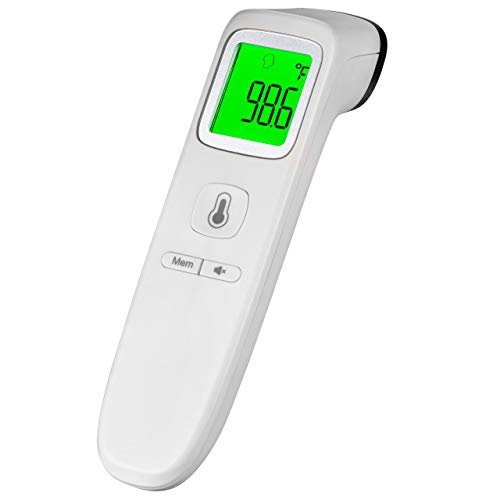 MEDUP Touchless Thermometer for Adults and Kids, No Touch Digital Infrared Forehead Temperature Scanner, Instant Read Special for Baby Thermometer