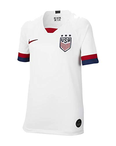 Nike USA 2019 Youth Home Jersey (White, Youth Large)