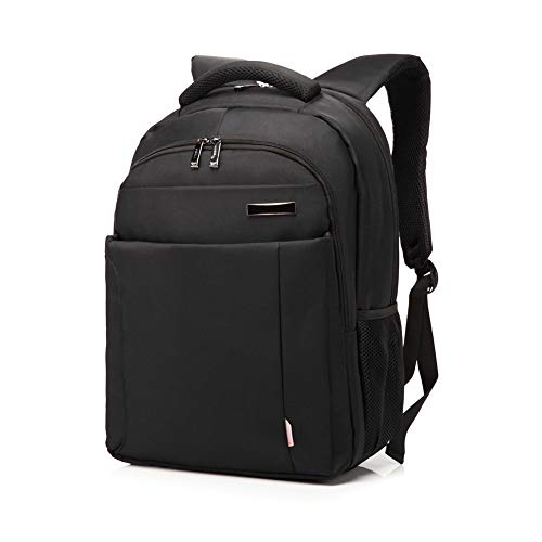 Zaini da viaggio di viaggio del computer portatile, sacchetto di spalla resistente dell acqua nera di 15,6 pollici per la scuola, il lavoro, il viaggio