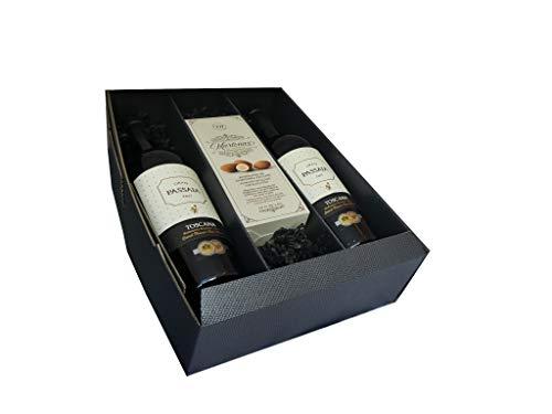 Geschenkset Rotwein aus der Toskana mit Mandelpraliné