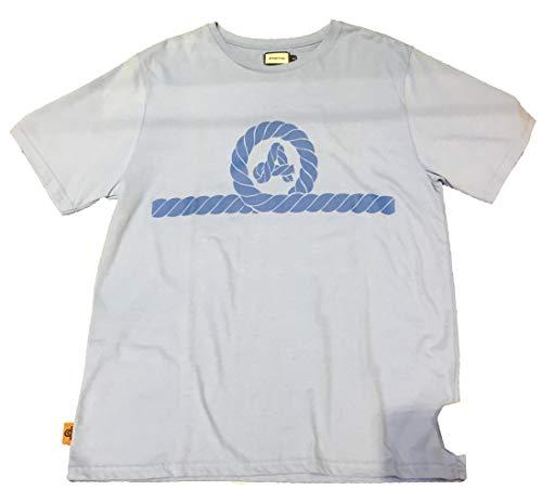 AMARRAS - Camiseta Manga Corta Azul Claro Mujer