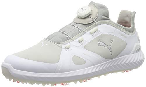 Puma Herren Ignite PWRADAPT DISC Golfschuhe, White-Gray Violet, 42 EU
