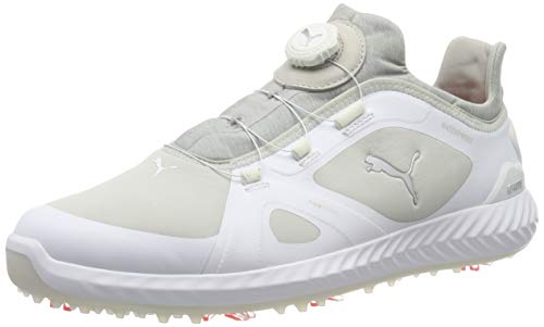 Puma Ignite Pwradapt Disc', Scarpe da Golf Uomo, Bianco White-Gray Violet, 43 EU