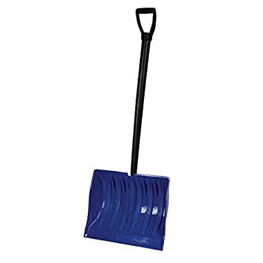 Bigfoot 19 in. Mega Combination Poly Snow Shovel with Lifetime Handle