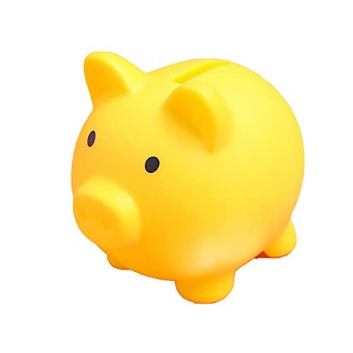 2 Piezas de Cerdos de Dibujos Animados se encuentran en Cajas de Efectivo.-Amarillo