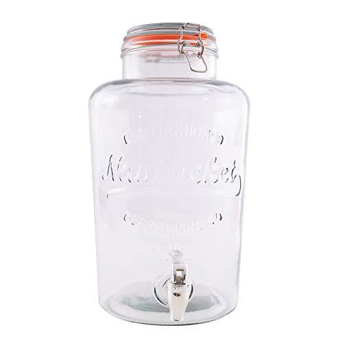 Point-Virgule Limonadenspender mit Zapfhahn, getränkespender aus Glas, rund 8L