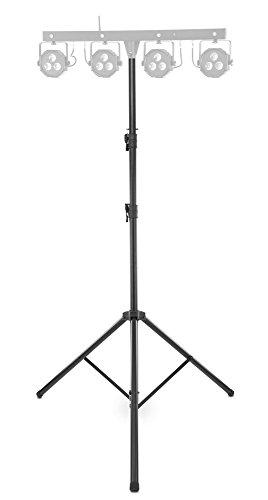 Showlite LS325 Lichtstativ (Standfestes Leuchten- und Boxenstativ für den mobilen Einsatz, max. Traglast: 50 kg, ausziehbar bis 325 cm, Rohrende 35 mm Ø, Aluminium) Schwarz