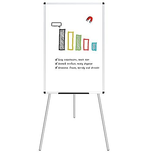 VIZ-PRO Flipchart Easel Whiteboard, Magnetic...