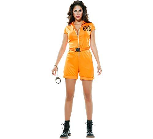 EUROCARNAVALES Disfraz de Prisionera Naranja para Mujer