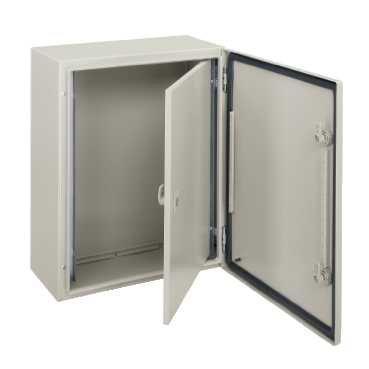 Schneider Electric NSYPIN43 Puerta Interior para Armario, Spacial Mural, Acero Al 400 x An 300, Profundidad regulable