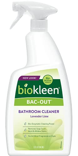 Biokleen Bac-Out Bathroom Cleaner - 32 Ounce -Eco-Friendly, Plant-Based, No Artificial Fragrance - Packaging May Vary