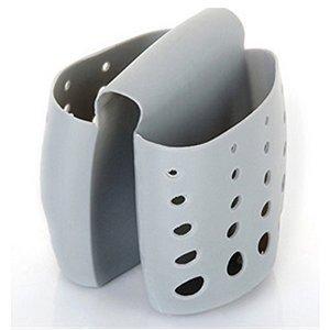 Kitchen Sink Plastic Draining Saddle Sponge Holder, Sponge and...