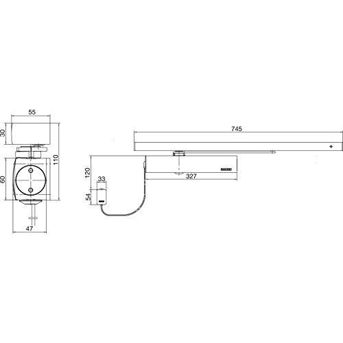 Türschließer TS 5000 RFS, EN 3-6, 1-flg. mit Gleitschiene, silber