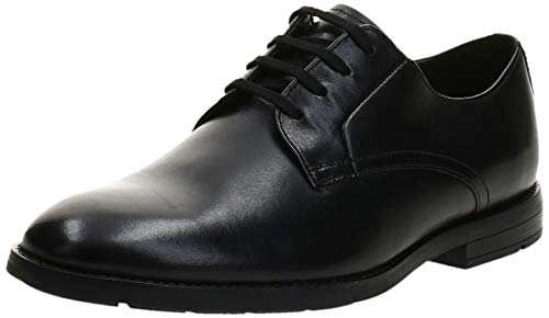 Clarks Ronnie Walk, Scarpe Stringate Derby Uomo, Nero (Black Leather Black Leather), 40 EU