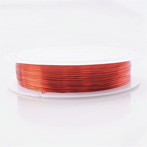 HLH Colorfast Beads Wire, Alambre de Cobre para la Pulsera Collar de Joyas de Bricolaje de Bricolaje 0.2/0.25/0.3/0.5/0.6/0.3/0.5/0.6/0.7/0.0mm Craft Beading Wire