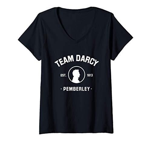Donna Mr Darcy Orgoglio e pregiudizio Jane Austen - Team Darcy Maglietta con Collo a V