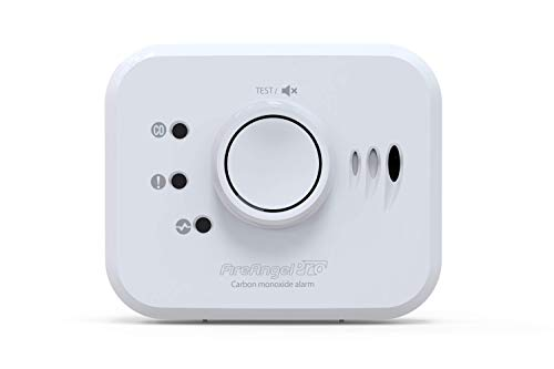 FireAngel Pro Connected Smart Carbon Monoxide Alarm, Battery Powered with Wireless Interlink and 10 Year Life, FP1820W2-R