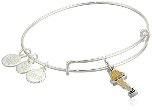 Alex and Ani Color Infusion, A Christmas Story Frageelay Bangle Bracelet Shiny Silver One Size