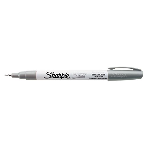 Sharpie Oil-Based Paint Marker, Extra Fine Point, Metallic Silver, 1 Count - Great for Rock Painting
