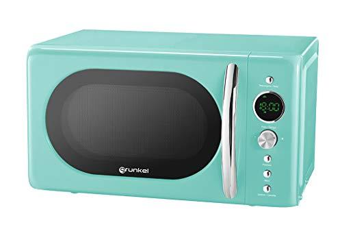 Grunkel - MW-DG V - Microondas Digital de 20l de Capacidad con diseño Vintage y 6 Niveles de Potencia. Función cocción rápida y Temporizador hasta 60 min - 700W - Verde